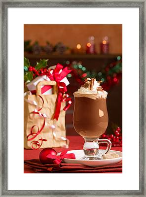 Hot Chcolate Drink Framed Print by Amanda Elwell