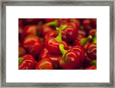 Hot Cherry Peppers Framed Print