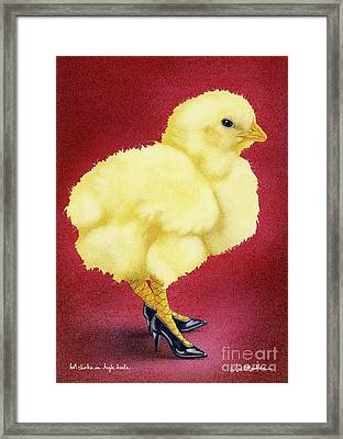 Hot Chicks In High Heels... Framed Print