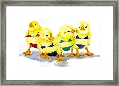 Hot Chicks...henpecking Not Allowed Framed Print