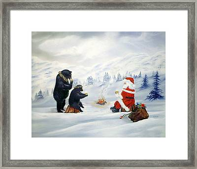 Hot Chocolate And Good Friends Framed Print by RJ McNall