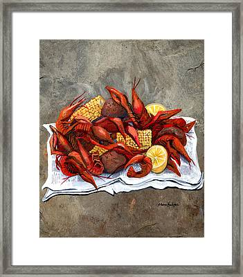 Hot Crawfish Framed Print