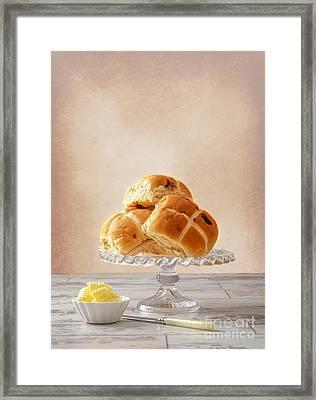Hot Cross Buns With Butter Framed Print