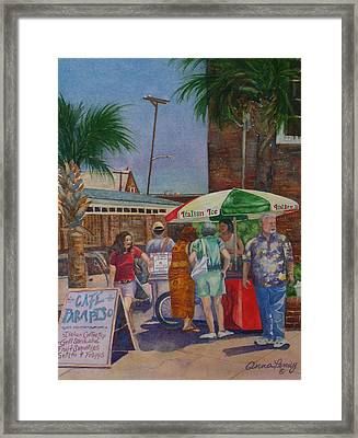 Hot Day At The Slave Market Framed Print by Anna Penny