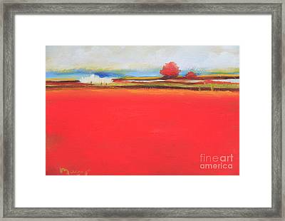Hot Day On The Lagoon Framed Print