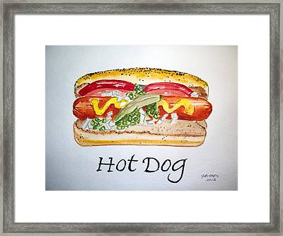 Hot Dog Framed Print