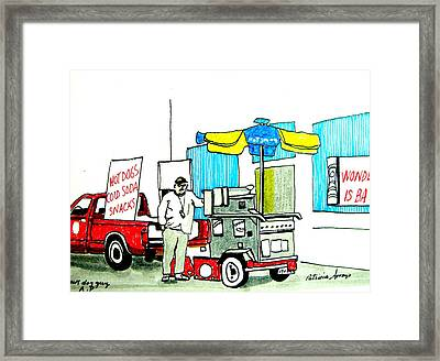 Hot Dog Guy Of Asbury Park Framed Print