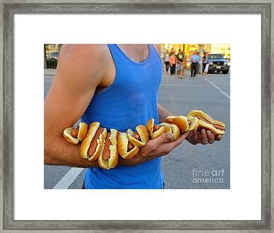 Hot Dog Man Framed Print