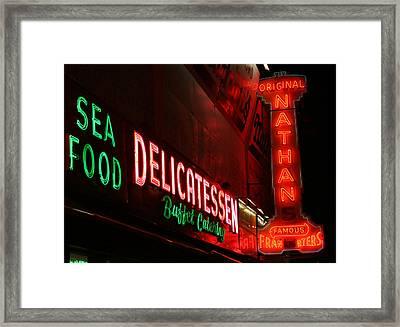 Hot Dog Nights Framed Print by Jason Hochman