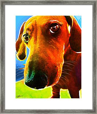 Hot Dog With Relish Framed Print by Shevon Johnson