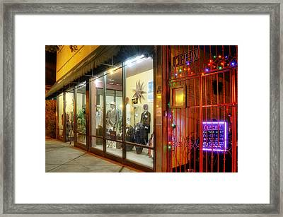 Hot Dogs And Suits Framed Print