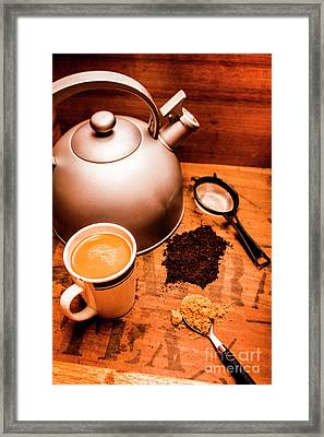 Hot Drink Details. Tea Print Framed Print by Jorgo Photography - Wall Art Gallery