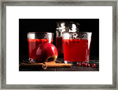 Hot Drink For Cold Rainy Day Framed Print