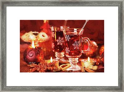 Hot Drink For Winter And Christmas Framed Print