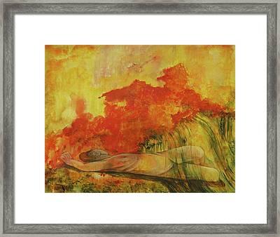 Hot Flash Framed Print by Georgia Annwell