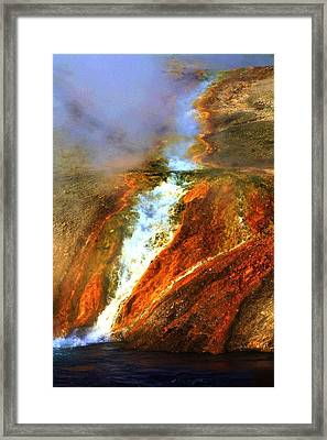 Hot Flow Framed Print by Russell  Barton