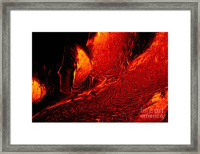 Hot Flowing Lava Framed Print by Bob Abraham - Printscapes