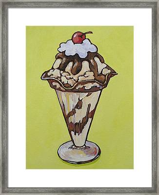 Hot Fudge Sundae Framed Print by Sandy Tracey