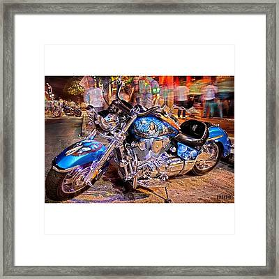 Hot Harley During Rot Framed Print