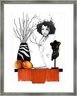 Hot Like Fire IIi Framed Print by Anthony Burks Sr
