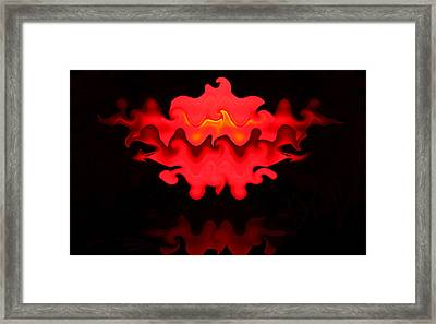 Framed Print featuring the photograph Hot Lips by Kristin Elmquist
