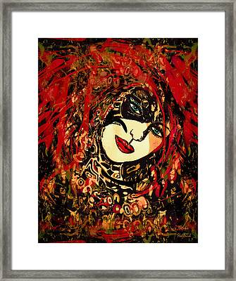 Hot Lips Framed Print by Natalie Holland
