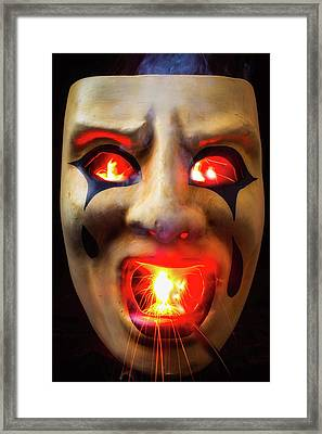 Hot Mask Framed Print by Garry Gay
