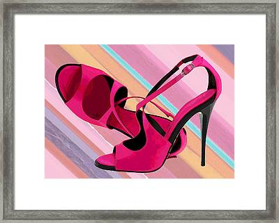 Hot Momma's Hot Pink Pumps Framed Print
