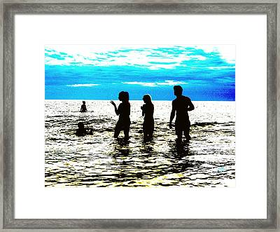 Hot Night At The Beach Framed Print