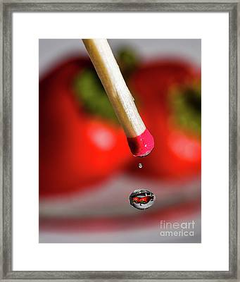 Hot Pepper Drops Framed Print
