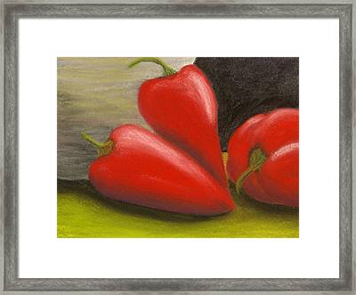 Hot Peppers Framed Print by Cheryl Albert