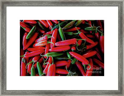 Hot Peppers Framed Print by Thomas Marchessault