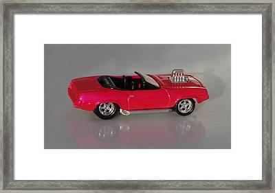 Hot Pink Barracuda Framed Print