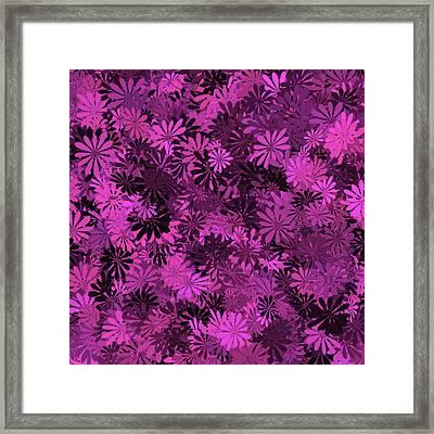 Hot Pink Floral Pattern Framed Print