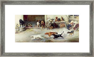 Hot Pursuit Framed Print by William Henry Hamilton Trood