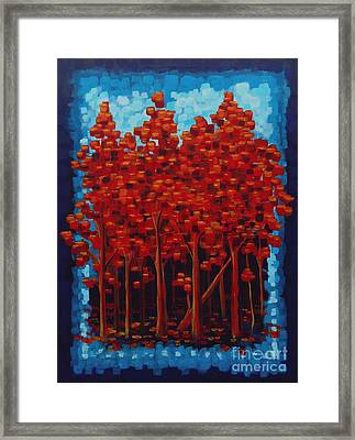 Hot Reds Framed Print