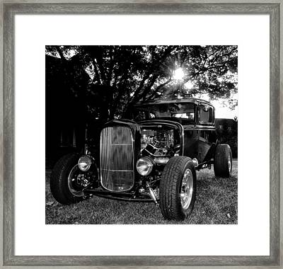 Hot Rod - Ford Model A Framed Print by Bill Cannon