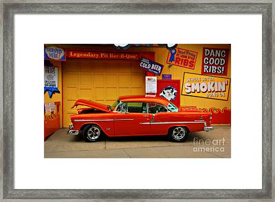 Hot Rod Bbq Framed Print by Perry Webster