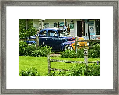 Hot Rod Heaven Framed Print by Wild Thing