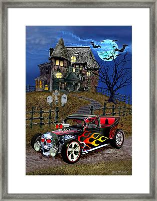 Hot Rod Of Haunted Hill Framed Print