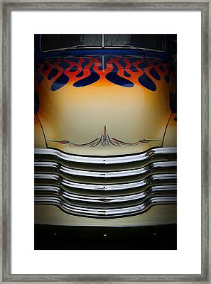 Hot Rod Truck Hood Framed Print