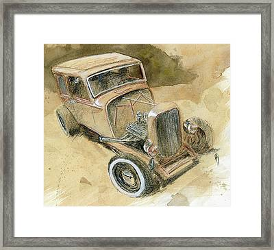 Hot Rod Tudor Framed Print