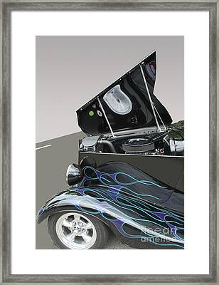 Framed Print featuring the photograph Hot Rod With Flames by Bill Thomson