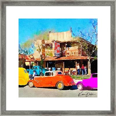 Hot Rods At Swing Inn, Temecula Framed Print