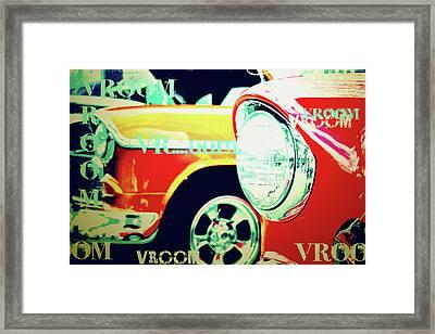 Hot Rods Go Vroom Vroom Framed Print