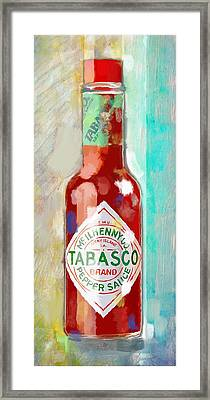 Hot Sauce Framed Print