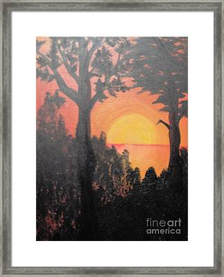 Framed Print featuring the painting Hot by Saundra Johnson