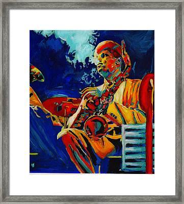 Hot Sax Framed Print by Vel Verrept