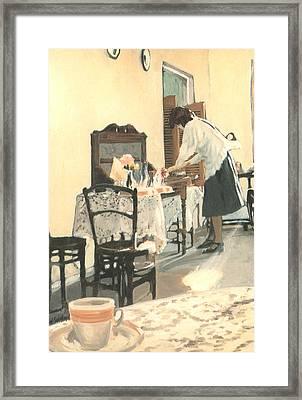 Hot Scones For Tea Framed Print by Linda Crockett