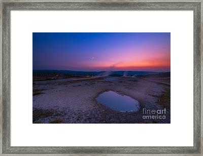 Hot Spring Sunset Framed Print